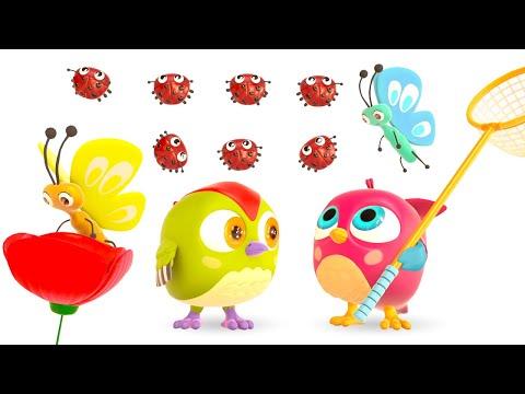 Музыкальные мультики Совенок Хоп Хоп для малышей. Считаем бабочек