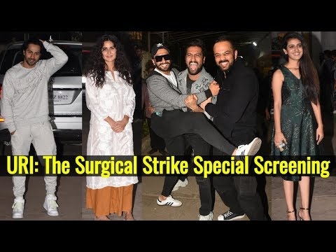 Uri screening: Ranveer Singh, Katrina Kaif and others unite to watch the action film Mp3