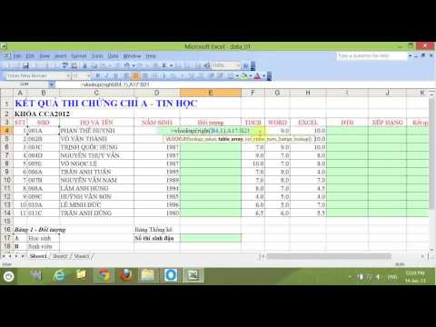 [Video hướng dẫn] sử dụng hàm Vlookup trong Excel