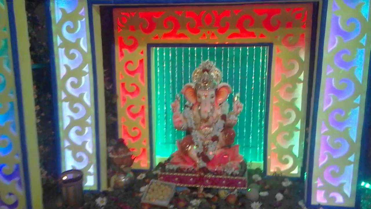 Home Ganpati Decoration 2016 Kamal Yadav Youtube