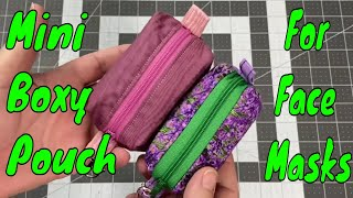Mini Box Pouch for Storing Masks, Hand Sanitizer, or Lunch Money