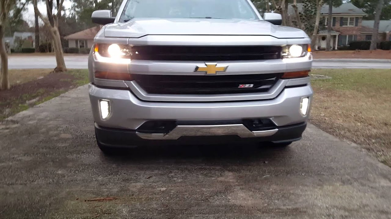 2016 Silverado Z71 Body Color Grill And Bumper Led Youtube