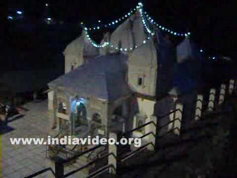 Gangotri Temple, a night view