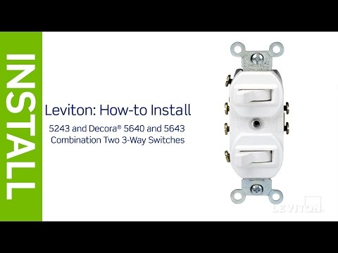 Leviton Presents: How to Install a Combination Device with a ... on wiring a double switch diagram, 3 way dimmer switch wiring diagram, easy 3 way switch diagram, wiring a rocker switch diagram,