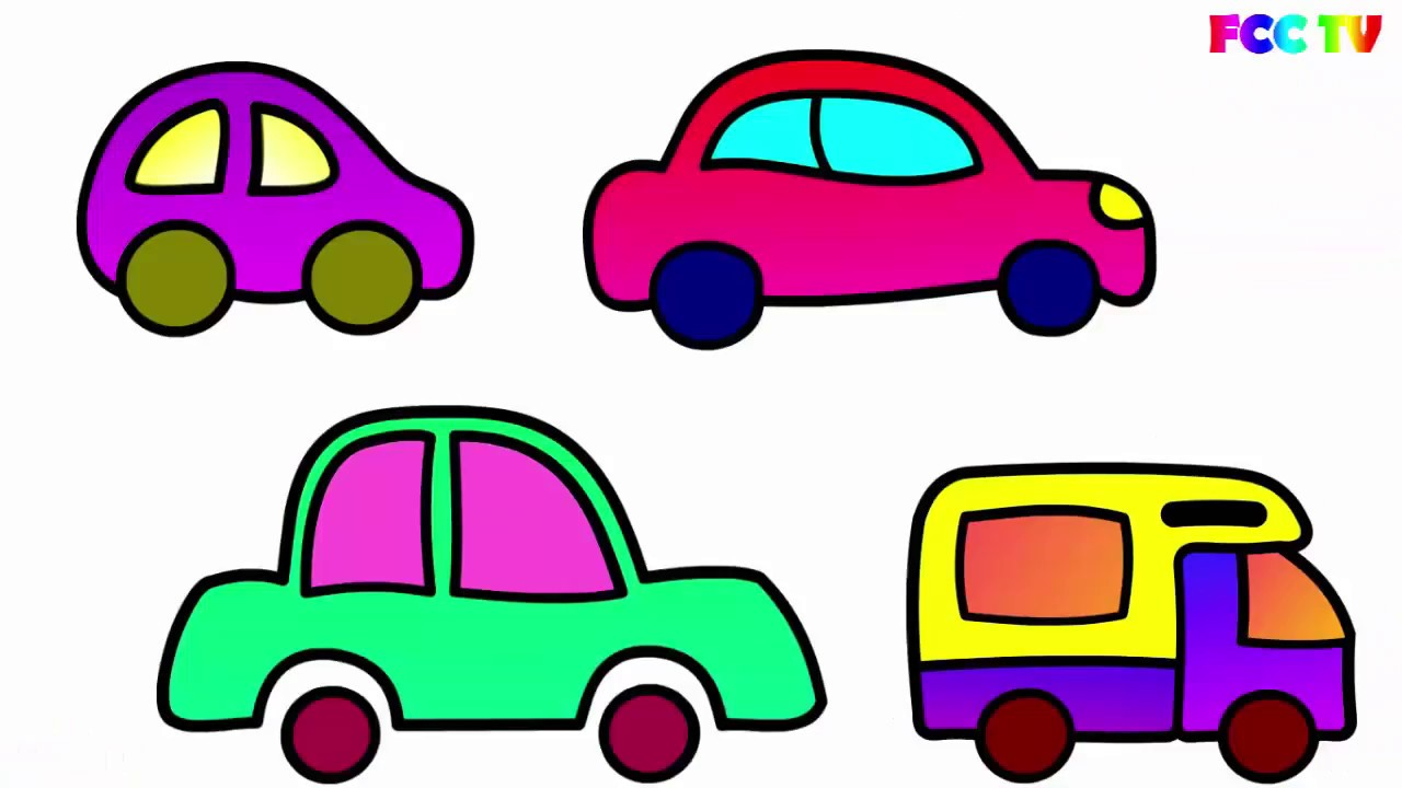How To Draw For Kids How To Draw A Car Cars Coloring Page For
