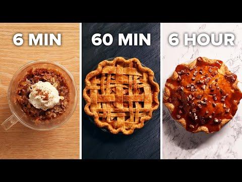 6-Min Vs. 60-Min Vs. 6-Hour Apple Pie • Tasty