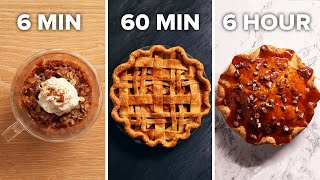 6-Min Vs. 60-Min Vs. 6-Hour Apple Pie  Tasty
