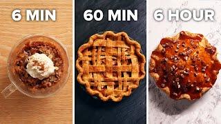 6-Min Vs. 60-Min Vs. 6-Hour Apple Pie  Tasty