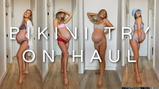 PREGNANT BIKINI TRY ON HAUL! | FIRST DAY IN OUR NEW HOUSE :)