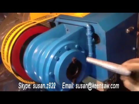 Aluminum and copper end forming machine, pipe end sawging, reducing machine