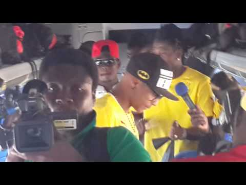Ghana players on their bus at the World Cup