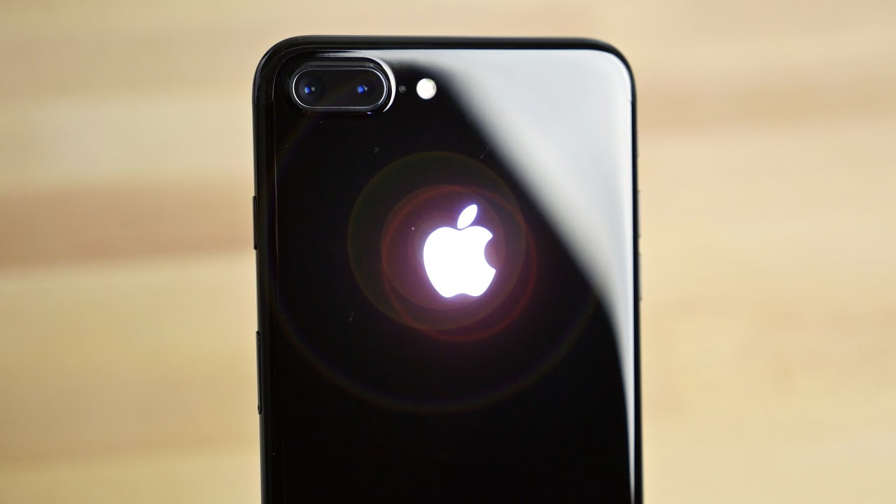 glowing apple logo on iphone 7 plus sexiest mod ever youtube