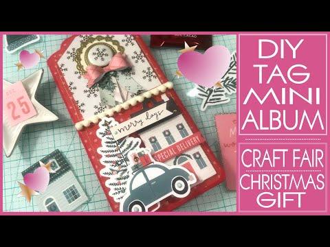 diy-tag-mini-album---super-easy-tutorial!-craft-fair-ideas---christmas-crafts