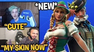 Streamers React to the *NEW* HEIDI & LUDWIG SKINS in Fortnite Item Shop 27