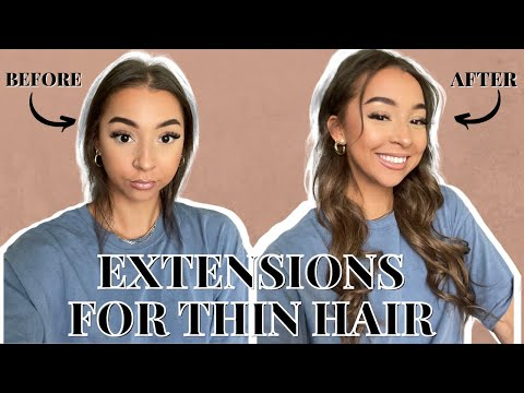 TRYING OUT HAIR EXTENSIONS FOR SUPER THIN HAIR   *mhot hair extensions review*