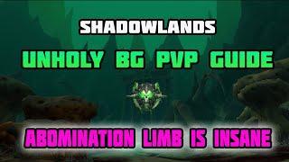 WoW Shadowlands Strongest Unholy DK PvP Battleground Setup - Insane DMG!!!