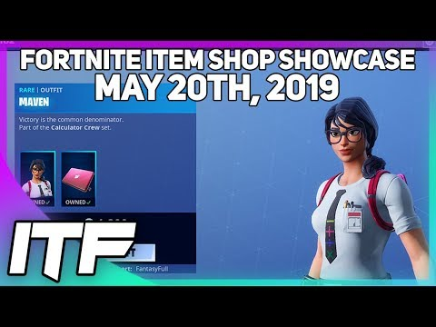 Fortnite Item Shop MAVEN IS BACK! [May 20th, 2019] (Fortnite Battle Royale)