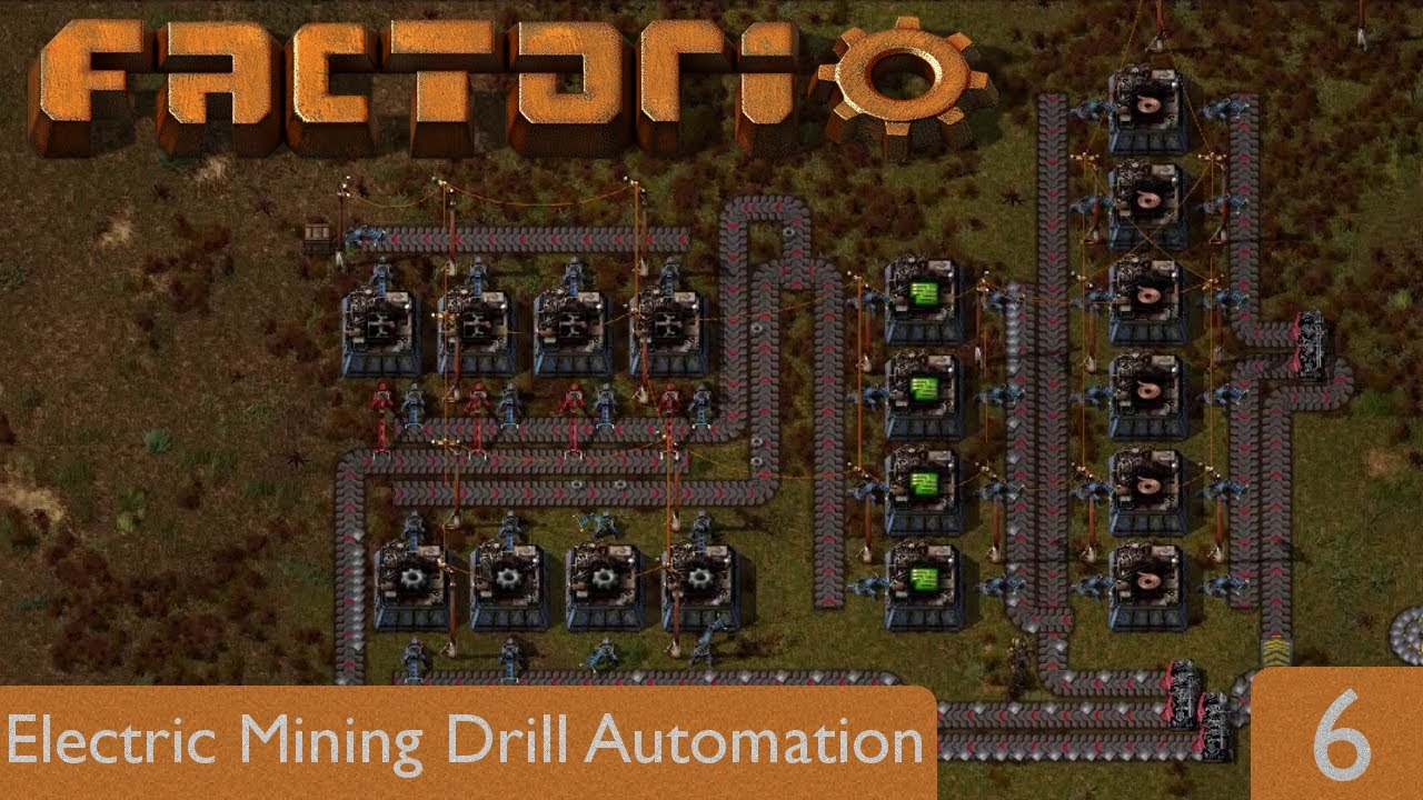 Electric Mining Drill Automation | Factorio 0.15 | Part 6