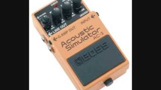 Boss AC3 demo accoustic simulator  Some Feelings  with Lag RS200 and Orange TINY TERROR