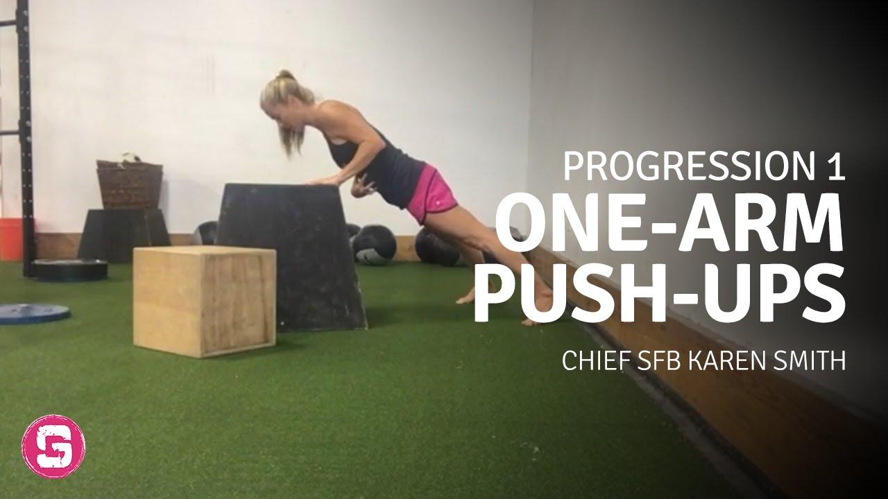 Chief SFB Karen Smith — One-Arm Push-Ups (OAPU) Progressions — Visualization