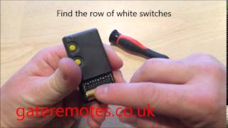 programming a bft dip switch garage gate remote control
