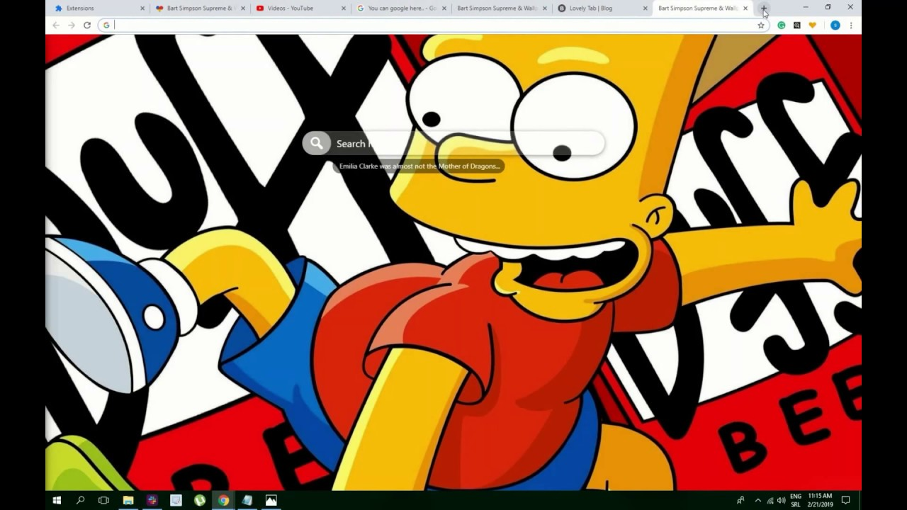 Cool Bart Simpson Supreme Wallpaper Hd Theme Try Now Youtube