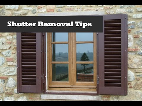 Removing Shutters With Shur Lok Fasteners Window Shutter Removal Youtube