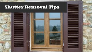 Removing Shutters With Shur-lok Fasteners.  Window Shutter Removal.