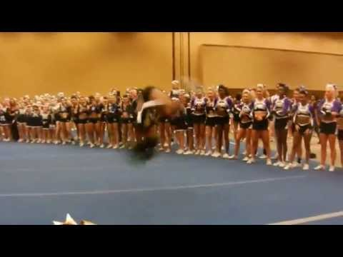 This girl is like a cheerleading ninja! Is this even possible?!