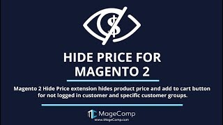 Magento 2 Hide Price by MageComp