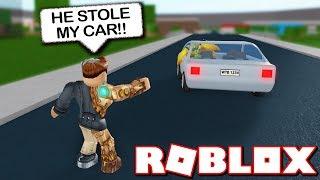 MY CAR WAS STOLEN?! (Roblox Bloxburg!)
