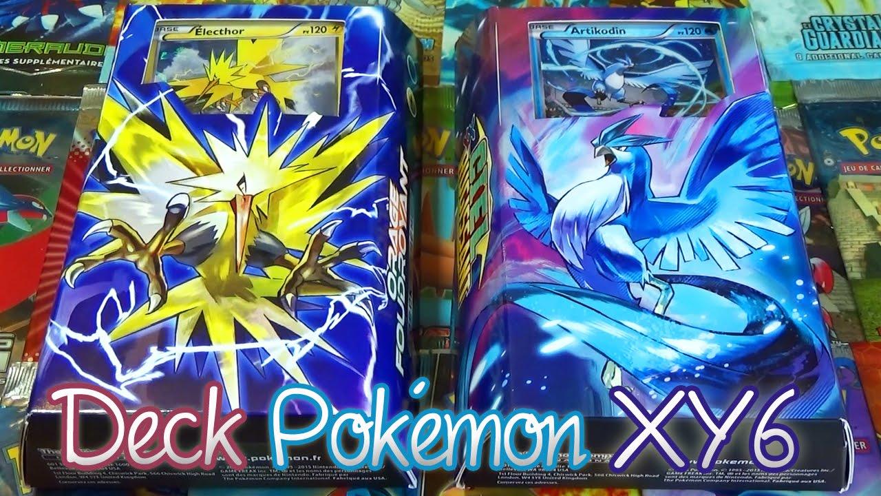 Ouverture des decks pok mon xy6 ciel rugissant lecthor - Carte pokemon electhor ex ...