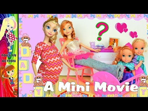 Elsia has exciting news! Movie Funny Bee Barbie Chelsea Toys Anna and Elsia Toddlers Toys and Dolls