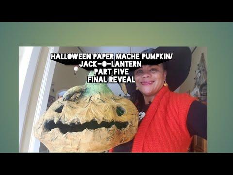 Halloween Paper Mache Pumpkin Part Five The Big Reveal