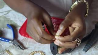 How to make bead necklace - Tutorial by Ema.ng