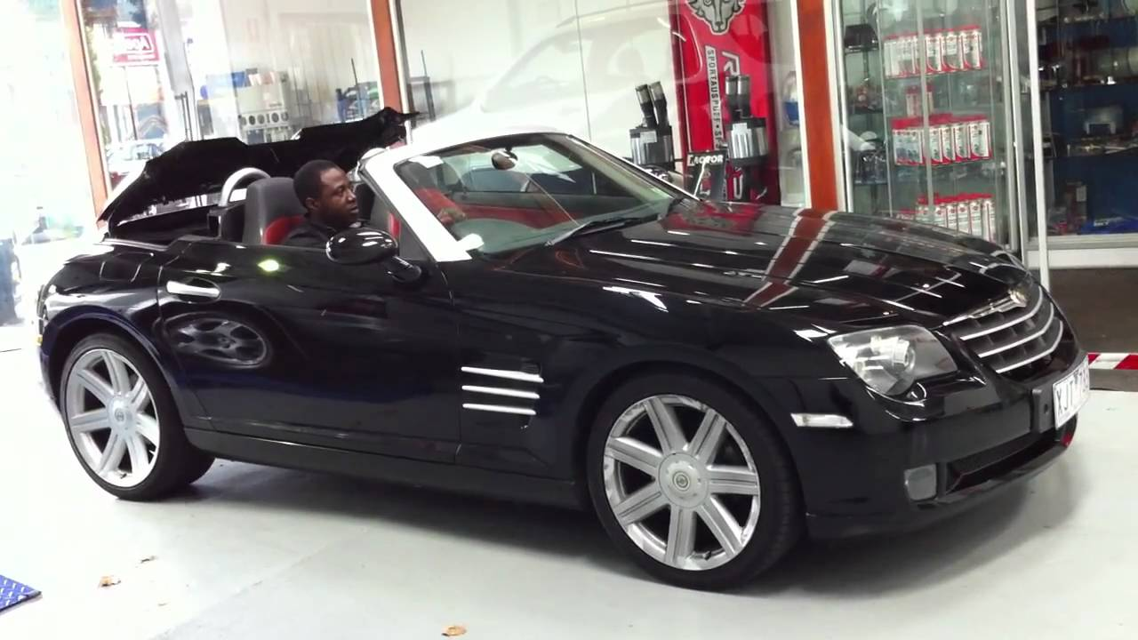 chrysler crossfire convertible bart testing roof operation youtube. Black Bedroom Furniture Sets. Home Design Ideas
