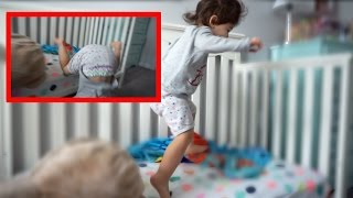 TODDLER REACTING TO NEW BED...GONE WRONG