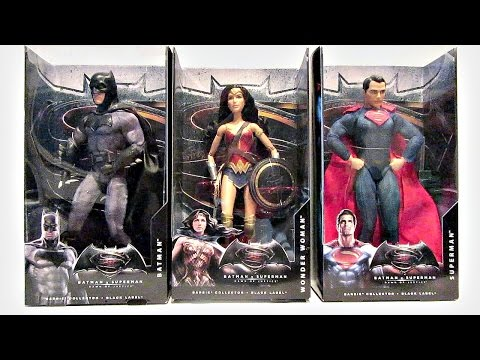 BARBIE - BATMAN vs SUPERMAN DOLLS - BATMAN, SUPERMAN, AND WONDER WOMAN - DOLL REVIEWS