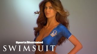SI Swimsuit World Cup Body Painting: Melissa Satta Wearing Nothing But PAINT!
