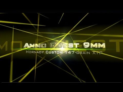 Ammo Quest 9mm: Hornady Custom 147-grain tested in ClearBallistics gelatin