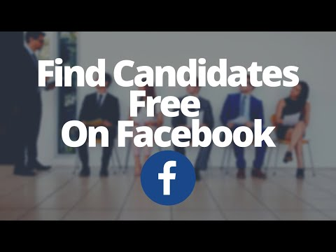 How to find candidates And Recruit On Facebook for FREE
