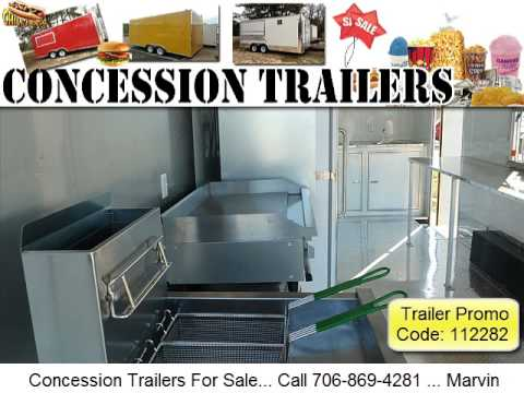 Catering Trailers For Sale in Texas! - Call Now 706-869-428