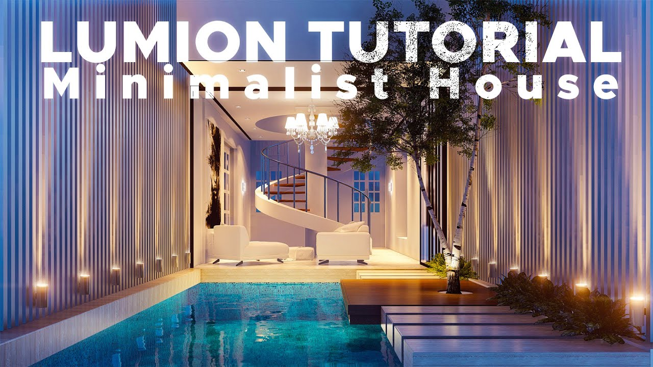 Sketchup render lumion 6 53 minimalist house youtube for Minimalist house sketchup