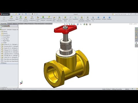 SolidWorks Tutorial   Design And Assembly Of Valve in SolidWorks   SolidWorks