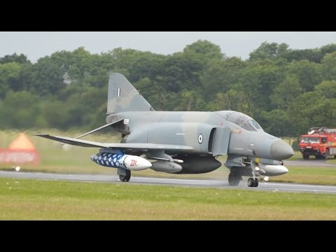 McDonnell Douglas F-4 Phantom II Hellenic Air Force departure at RIAT 2016 AirShow