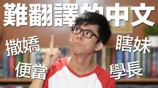 便當? 撒嬌? 超難翻譯成英文的中文! // Difficult Chinese Words to Translate #2