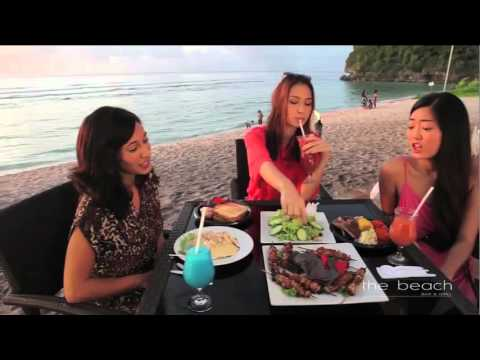 Guam the Beach bar & grill restaurant Russian