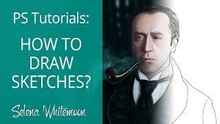 PS tutorials: How to draw sketches? | Уроки Фотошоп: Как рисовать скетчи?(ПОДПИСАТЬСЯ | SUBSCRIBE: http://goo.gl/1F2JVe Первое видео из новой рубрики