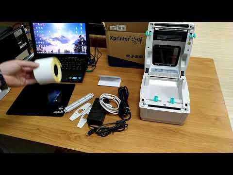 Распаковка, обзор, тестирование печати этикеток Xprinter XP-460B