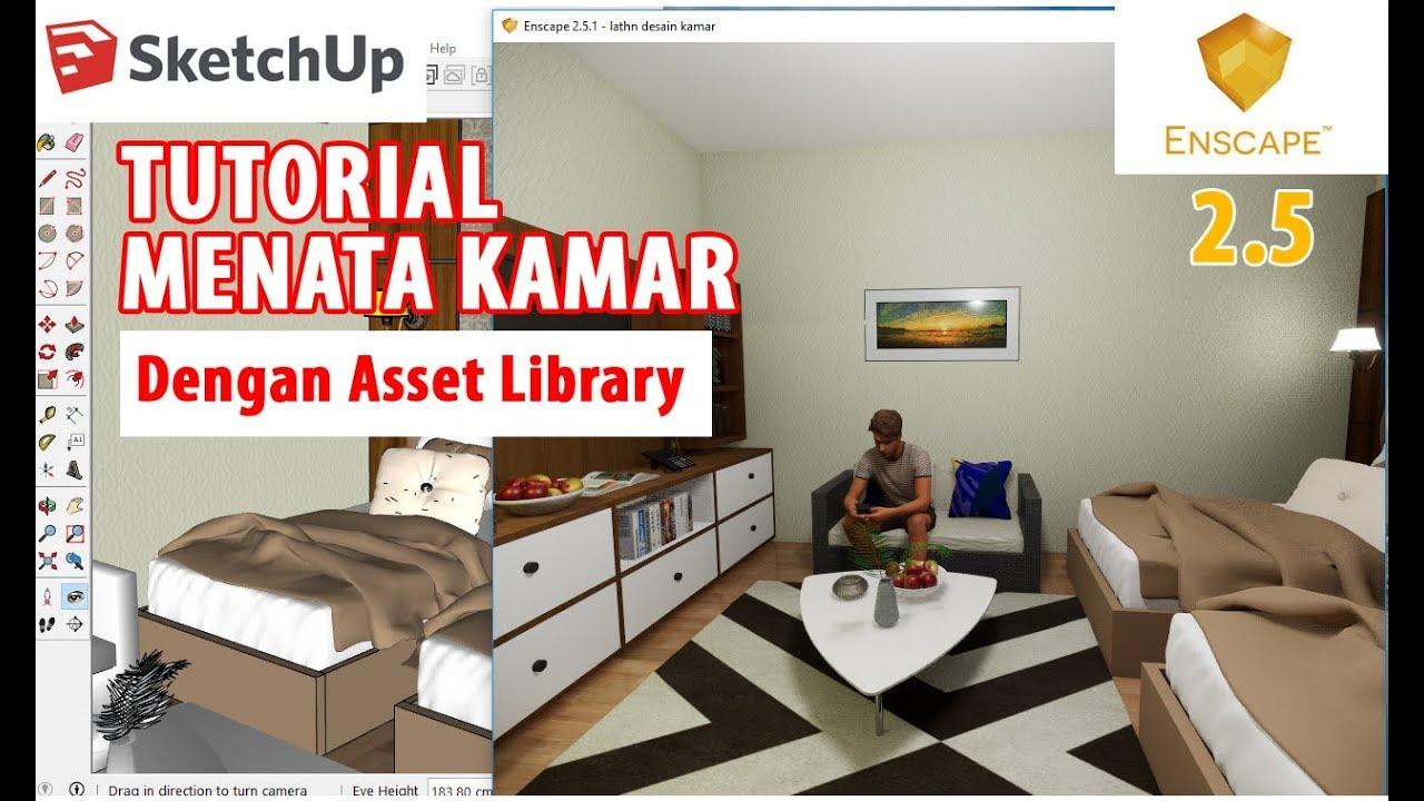 Mendesain Kamar dengan Enscape Asset Library